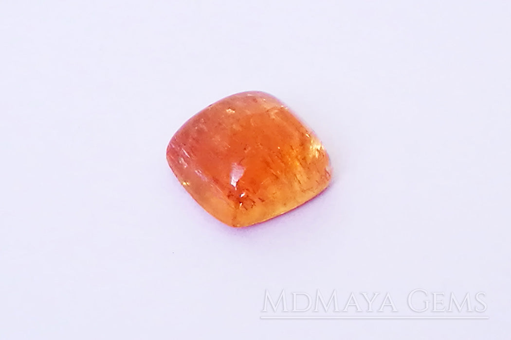 Natural Golden Imperial Topaz 3.83 carat Rich golden orange color ideal for jewelry