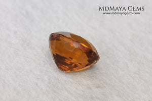 Orange Tourmaline from Tanzania. 2.06ct. Oval cut. There are not many orange gems, although it is the favorite color of many people and these look impressive mounted in jewelry. A natural and untreated precious stone at an affordable price.