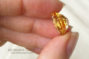 Magnificent Golden Yellow Citrine Checkerboard Oval Cut 6.82 ct