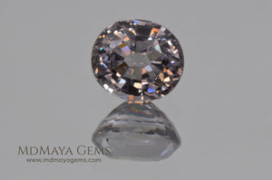 Nice bright Gray Spinel Oval Cut 1.55 ct