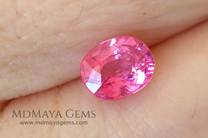 Neon Rich Pink Tanzanian Spinel Oval Cut 1.06 ct