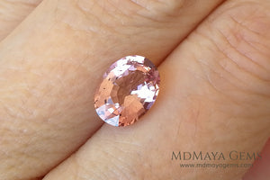 Untreated Peach Tourmaline Gem Oval Cut 2.27 ct