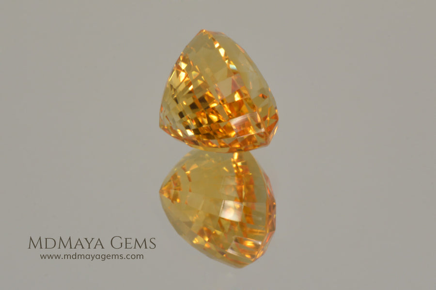 Golden Yellow Citrine Oval Cut 7.68 ct