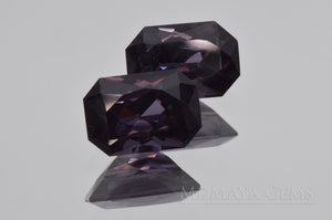 Pair Bluish Violet Spinel Gemstones for sale Octagon Cut 2.66 ct