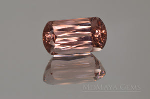 Rich and Beautiful Natural Peach Pink Tourmaline from Mozambique. Fancy Cut. 3.27 ct