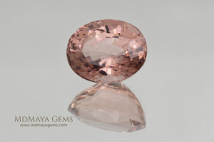 Natural Peach Pink Tourmaline Gemstone Oval Cut 4.40 ct