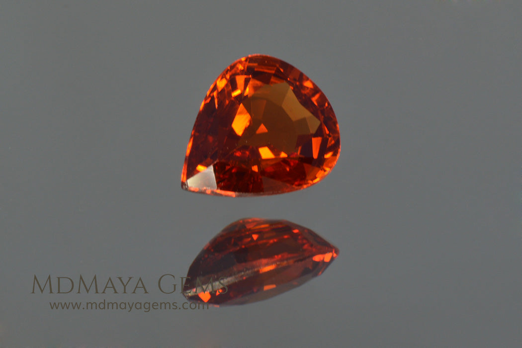 Little Orange Spessartite Garnet Pear Cut 1.04 ct