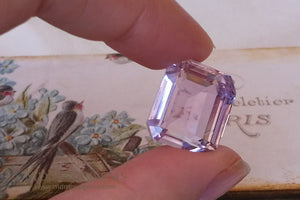 Baby Pink Kunzite Gemstone Emerald Cut 25.49 ct