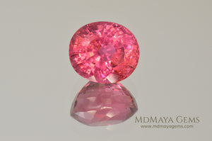 Vivid Rubellite African Tourmaline Oval Cut 6.25 ct