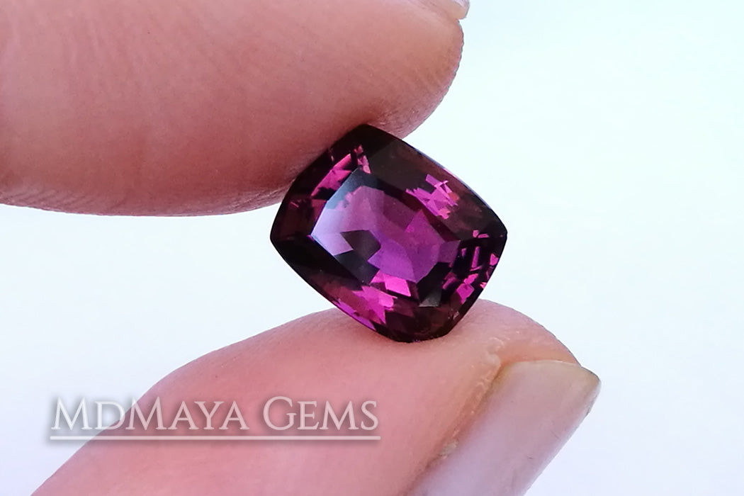 Awesome Purplish Red Tourmaline Cushion Cut 2.33 ct