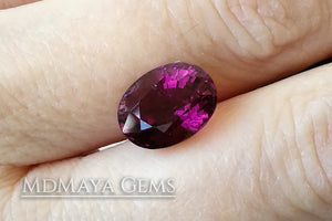 Rubellite tourmaline 4.90 ct oval cut