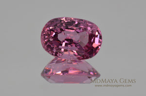 Crown Pink Burmese Spinel Oval cut 2.44 ct under fluorescent light