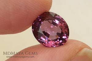 Glowing Pink Spinel from Tanzania Oval cut 2.66 ct under daylight