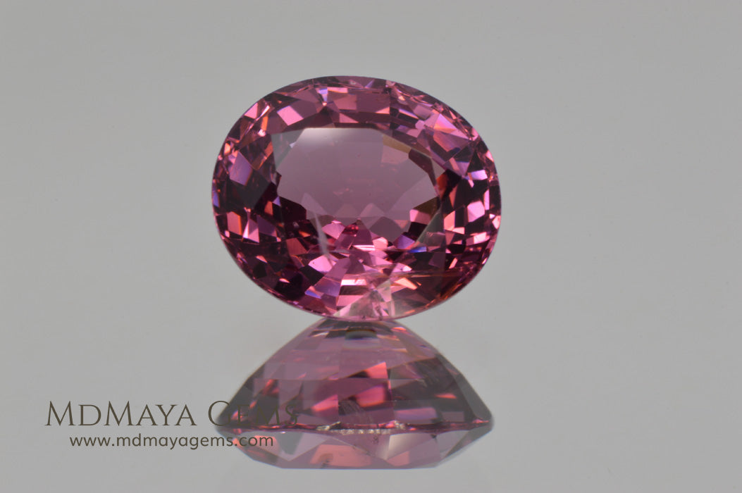 Glowing Pink Spinel from Tanzania Oval cut 2.66 ct