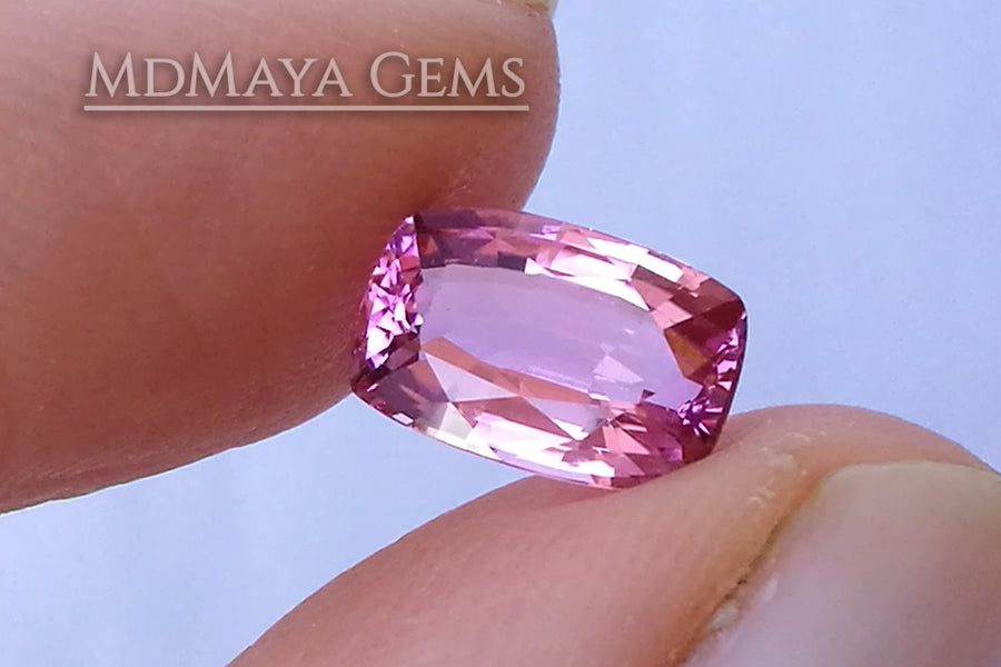 Bright Pink Tourmaline Cushion Cut 1.71 ct