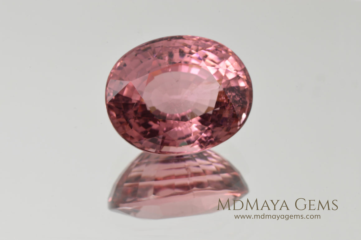 Super Pink Tourmaline Gemstone Oval Cut 11.90 ct