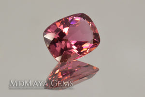 Pink Tourmaline from Mozambique Cushion Cut  2.06 ct
