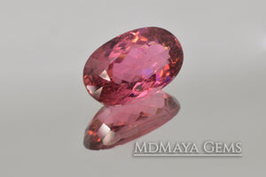 Vivid Purple Red Rubellite Tourmaline Oval Cut 3.69 ct