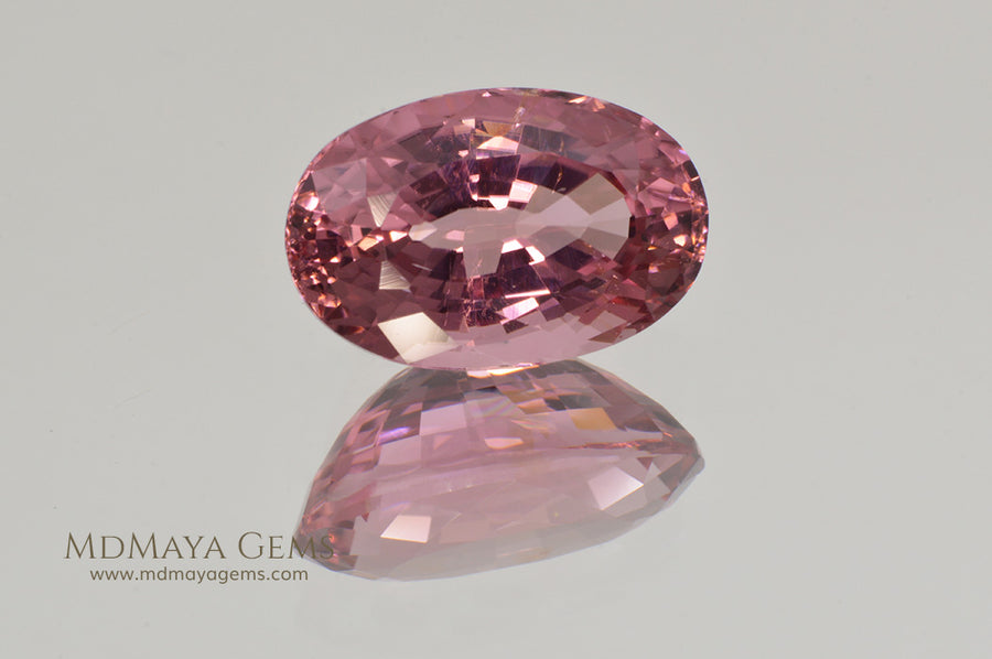 Brilliant Pink Tourmaline Gemstone Oval Cut 4.09 ct