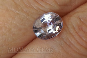 Platinum light Purple Spinel from Mogok. Oval Cut. 2.17 ct.