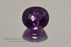 Attractive Genuine Amethyst Purple Oval Cut 16.25 ct