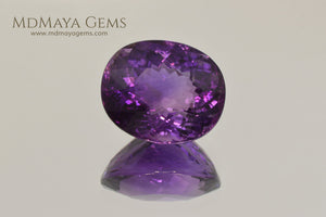 Genuine Violetish Purple Amethyst Oval Cut 25.34 ct