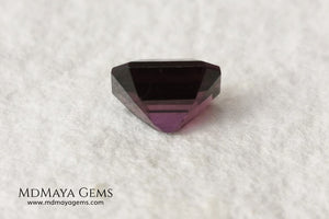 Purple Spinel from Mogok. Emerald Cut. 1.13 ct. As you already know I have a predilection for spinels, with this little one I couldn't resist, rarely do you see this color on a spinel, it is a very vivid purple and full of brilliance. Simply delicious. Ideal for jewelry.