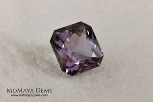 Lovely light purple spinel, 2.15 ct square cut. This precious natural gem has perfect proportions, which make it beautiful in any kind of light. Its purple color under fluorescent light is much more vivid and brilliant in all its facets. A preciousness that will look ideal in a ring. Do not miss it if you are a spinel lover.