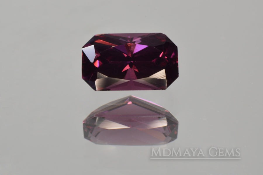 Unheated Reddish Purple Spinel Octagon Cut 1.24 ct