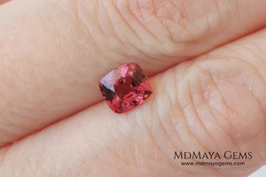 Amazing Purple Red Spinel. Cushion Cut. 0.85 ct. This beautiful gemstone shows a bright and vivid color, it will look perfect in a special ring or any kind of jewelry that you can imagine.