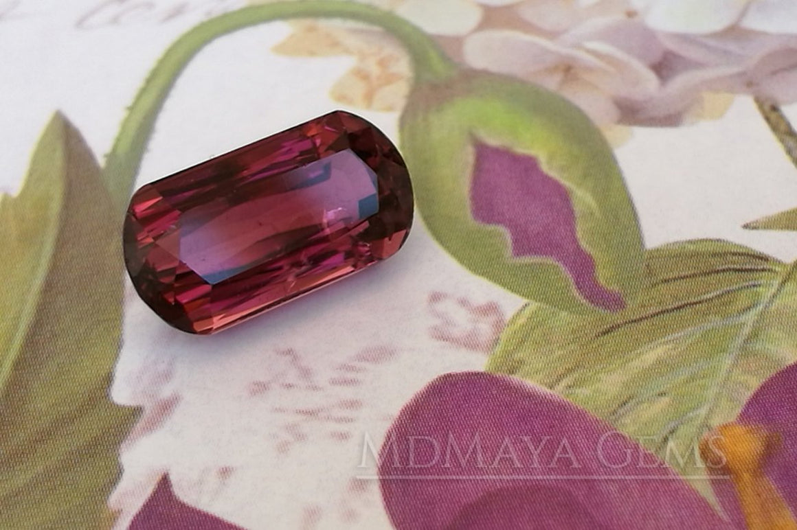 Purplish Red Rubellite Tourmaline Fancy Cut. 4.15 ct