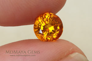 Rare Gemstone Clinohumite Round Cut 1.83 ct