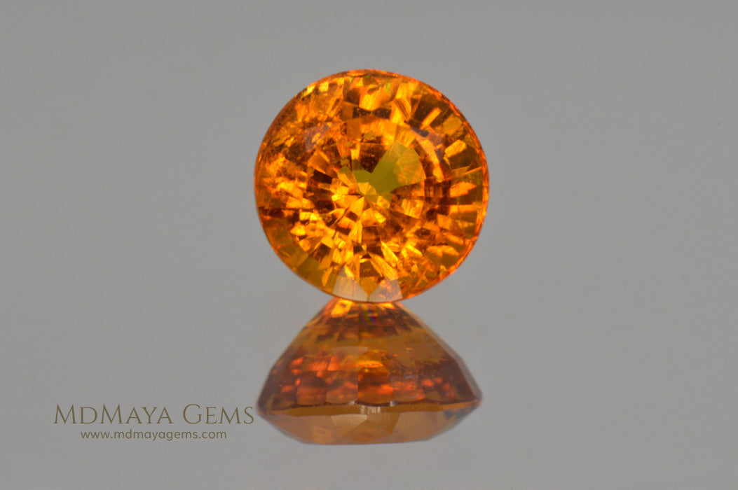 Rare Gemstone Clinohumite Round Cut 1 83 ct