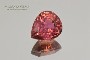 Pink Tourmaline from Mozambique Pear Cut., 5.77 ct