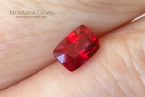 Hot Red Burmese Spinel Cushion Cut 0.92 ct