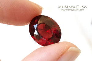 Untreated Rhodolite Garnet Gemstone 11.03 ct Oval Cut