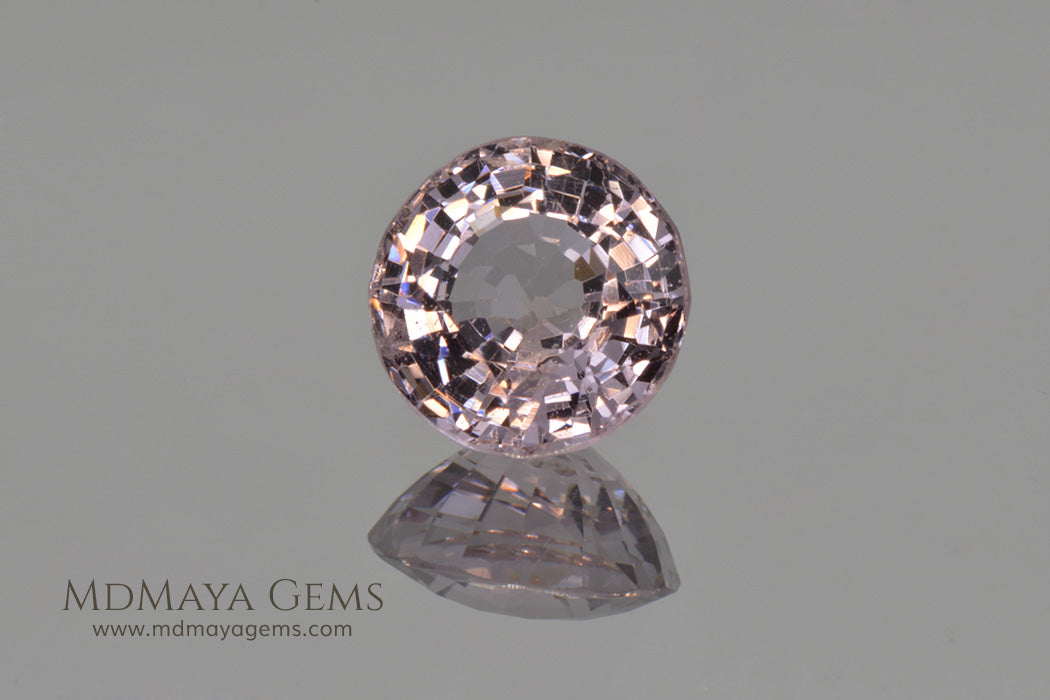 Platinum Pinkish Purple Spinel Round cut 2.02 ct
