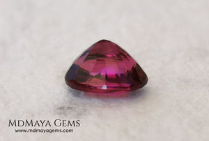 Intense Purplish Red Rubellite 0.97 ct. Oval Cut. African Tourmaline. This gemstone has a beautiful and bright color. It is perfect for using in jewelry, great value!.