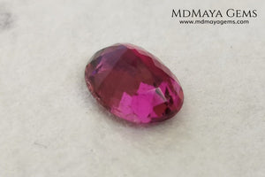 Natural Top Purple Pink Rubellite Tourmaline from Mozambique. Oval Cut. 1.08 ct. Good things come in small package, this beautiful and untreated gemstone has a vivid and bright color, it will look perfect in any kind of jewelry, and the best, its price!.