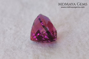 Intense Reddish Purple Rubellite 1.21 ct. Oval Cut. African Tourmaline. This gemstone has a saturated pink color. This little gem has the best color of rubellites, under the natural light you can see a very intense pink. It will look fab in a ring, this pink gemstone shines by itself.