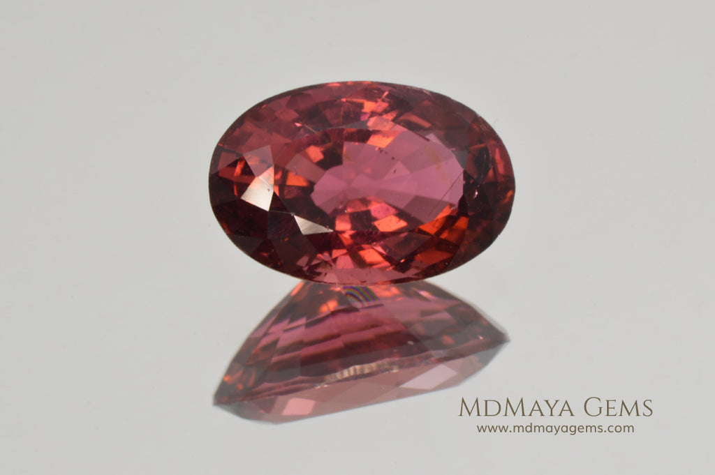 Untreated Rubellite. Oval Cut. 4.04 ct
