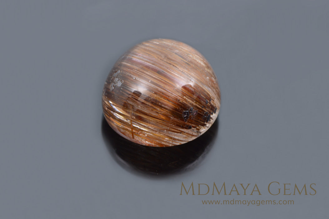 Golden Rutilated Quartz Cabochon Cut 2.16 ct