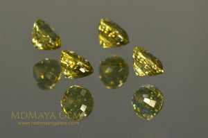 Perfect Set of 4 Yellow Mali Garnet Oval cut 2.83 ct