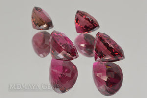 Magnificent 4 Piece Suite of Rubellite Tourmaline 9.20 ct total