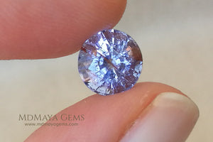 2.43 ct. .. 8.31 * 8.02 * 6.26 mm Purple Paraiba Tourmaline
