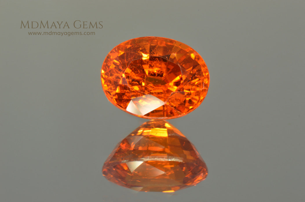 Rich Orange Spessartite Garnet Oval Cut. 2.74 ct