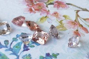 Pale pink spinels Lot over 5.50 ct. Cushion cut.