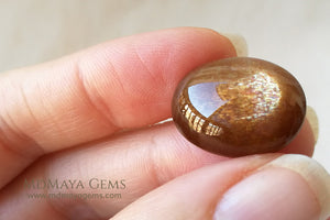 Sizzling Sunstone Cabochon Cats Eye Oval Cut 21.12 ct