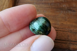Cat's Eye Green Tourmaline Gemstone 14.41 ct