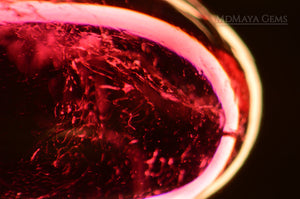 Two-Phase inclusions in Rubellite Tourmaline Gemstones